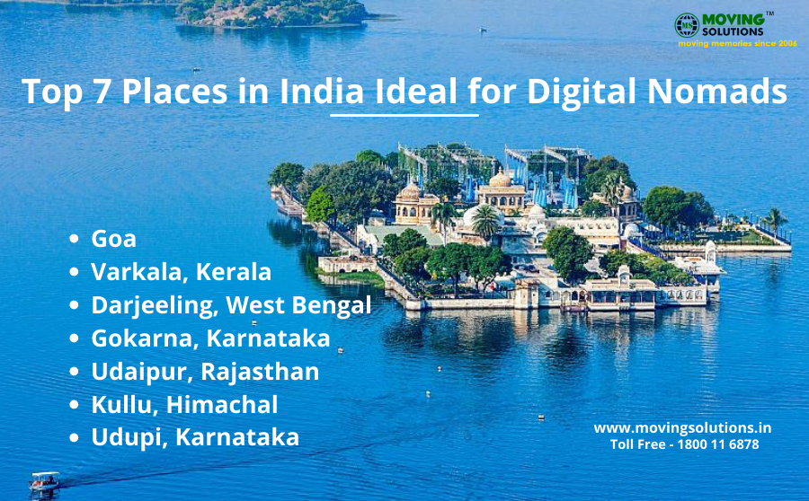 Top 7 Places in India Ideal for Digital Nomads - Moving Tips